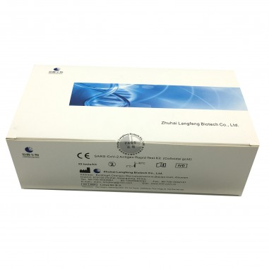 Set 25x Teste Rapide COVID-19, Langfeng, Antigen, Recoltare Nazo-Faringiana, Rezultat in 10 min, Pentru Uz Profesional