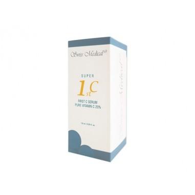 Ser Vitamina C, Swiss Medical, Ingrediente Complexe, Efect Anti Imbatranire, 20% Puritate, 200.000ppm, Picurator si Flacon 10ml