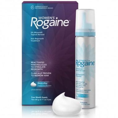 Rogaine Femei - Spuma 5% Minoxidil - Tratament 2 Luni - 1x Tub 60ml