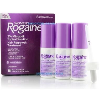 Rogaine -  Solutie 2% Minoxidil - Femei - Tratament 3 Luni - 180ml