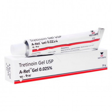 Gel A-Ret, RetinA, Anti-Rid, Anti-Acnee, Tretinoina 0.025% - Menarini - 20gr