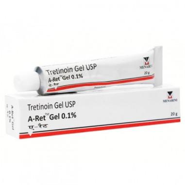 Gel A-Ret, RetinA, Anti-Rid, Anti-Acnee, Tretinoina 0.1% - Menarini - 20gr