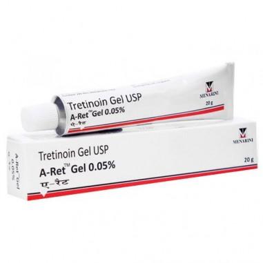 Gel A-Ret, RetinA, Anti-Rid, Anti-Acnee, Tretinoina 0.05% - Menarini - 20gr