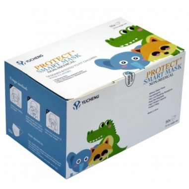Set 50x Masti Unica Folosinta, pentru Copii, Filtrare Bacteriana si Particule, 3 pliuri, Mix Modele